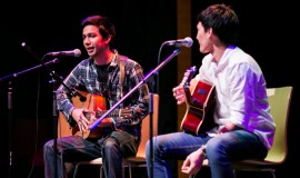 Justin Pongampai performing in Grammy Vocal Studio concert