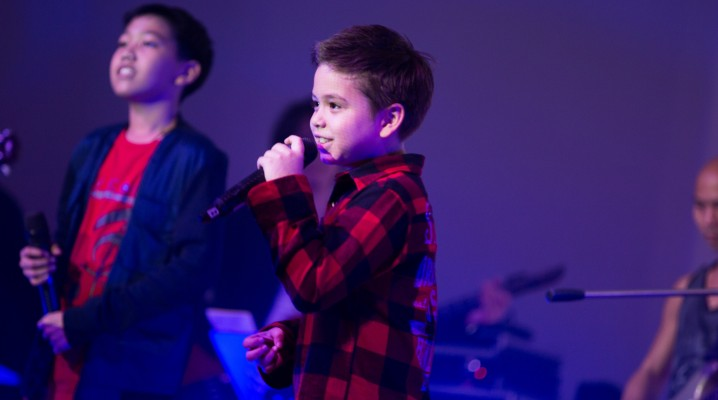 "Kris, 8 years old, singing ""Just the way you are""   G Vocal Student concert."